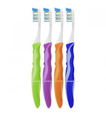 Oral-B Pulsar - brosses à dents 3D White avec soies Bacteria Guard, paquet de 4