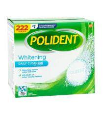 POLIDENT Whitening Daily Cleanser, 222 Tablets