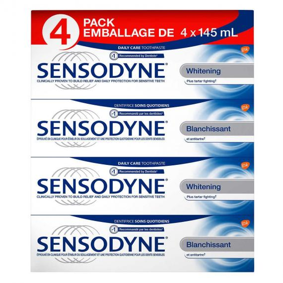 Sensodyne Whitening Toothpaste 4 x 145 ml