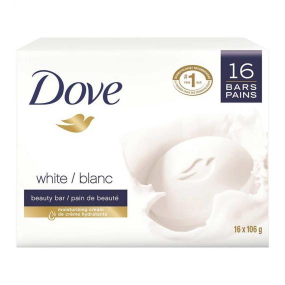 Dove White Soap Bar, 16 x 106 g
