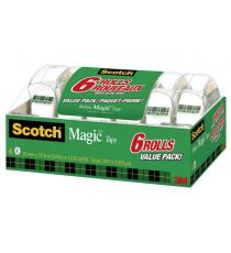 3M RUBAN SCOTCH PAQUET DE 6