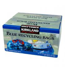 Kirkland Signature Blue Recycling Bags, 30 in. × 33 in., 80-pack