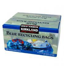 Kirkland Signature - Sacs à recyclage bleus, 30 po. × 33 po., Paquet de 80