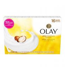 OLAY Savon en pains de beauté, ultrahydratants, avec beurre de karité, 16 × 113 g