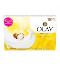 OLAY Ultra Moisture Shea Butter Beauty Bar Soap, 16 × 113 g