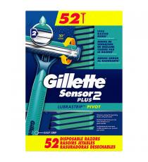 Gillette Sensor 2 Plus Disposable Razors, 52-pack