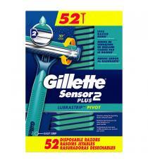Gillette Sensor 2 Plus Rasoirs Jetables, Paquet de 52
