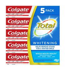 Colgate Total Dentifrice Blanchissant, 5 x 170 ml