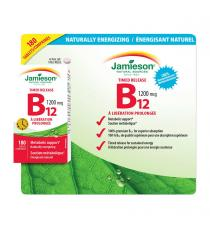 Jamieson(MC) vitamine B12 1200 mcg à libération prolongée - 190 Tablets