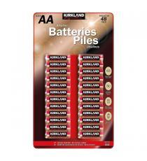 Kirklnad Signature Pile Alcaline AA, batteries 48