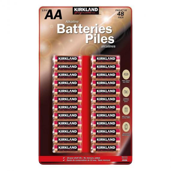 Kirklnad Signature AA Alkaline Battery, 48 batteries