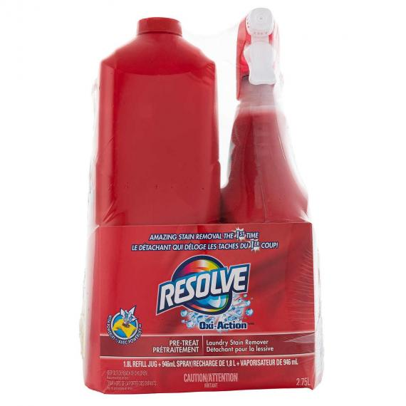 Resolve Max Laundry Stain Remover, 1.8 L + 650 ml