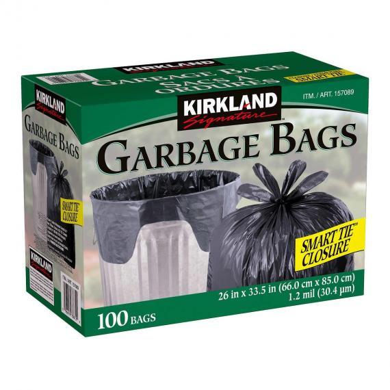 Kirkland Signature Smart Tie Garbage Bags Pack of 100
