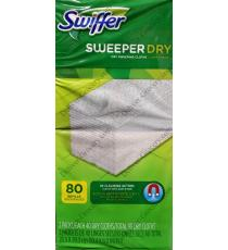 Swiffer Sweeper Sec 80 unités