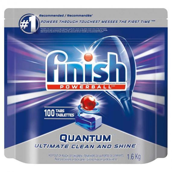 Finish Quantum Automatic Dishwasher Detergent, 100-count