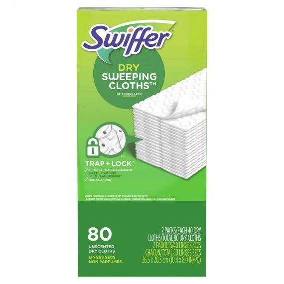 Swiffer Sweeper Sec 80 unités