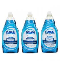 Dawn Ultra Platinum Advanced Power Dishwashing Liquid, 709 mL, 3-pack