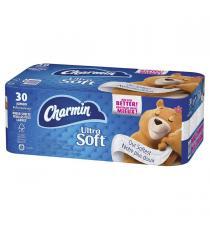 Charmin – Papier hygiénique Ultra Soft de 30 rouleaux grand format à 214 feuilles