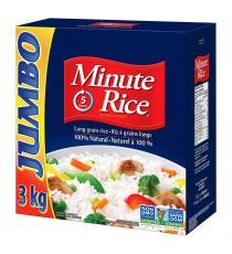 Minute Rice - Riz à grain long 3 kg