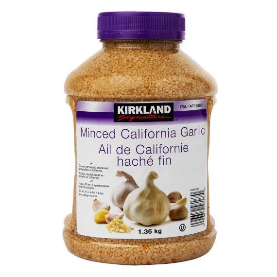 Kirkland Signature Minced California Garlic 1.36 kg