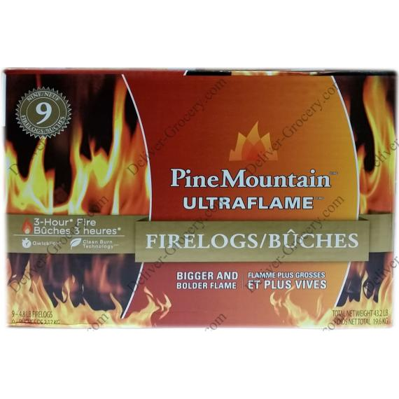 PineMountain Ultraflame Fireloges 9 x 3-hour - 19.6 kg