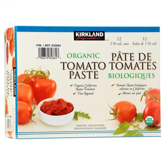 Kirkland Signature Organic Tomato Paste 12 x 156 ml