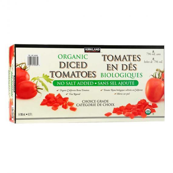 Kirkland Signature Biologique de Tomates en Dés 8 x 796 ml