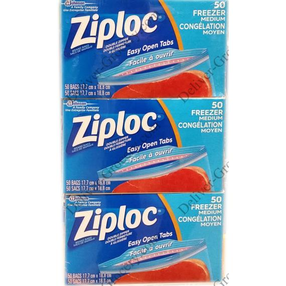 Ziploc 50 Medium Freezer Bags