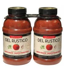 Del Rustico - Paquet de 2 pots de sauce pour pâtes à la tomate et au basilic, 2 × 1.2 L