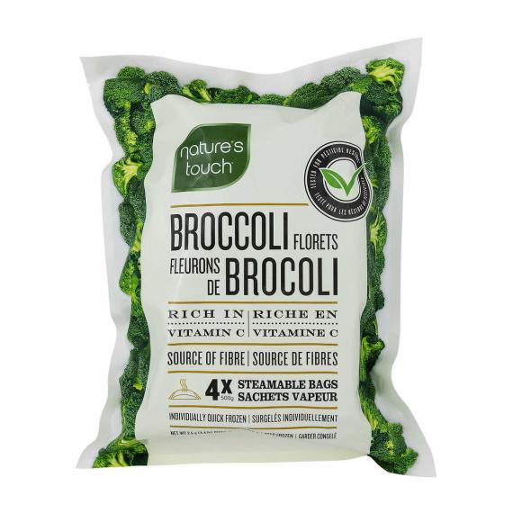 Natures Touch Broccoli Florets, 4 x 500 g