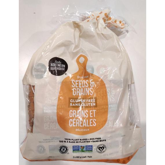 little NORTHERN BAKEHOUSE Gluten Free Delicious Seeds & Grains Loaf, 2 × 482 g