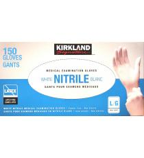 Kirkland Signature Nitrile Medical Examination Gloves Large L/G, 150