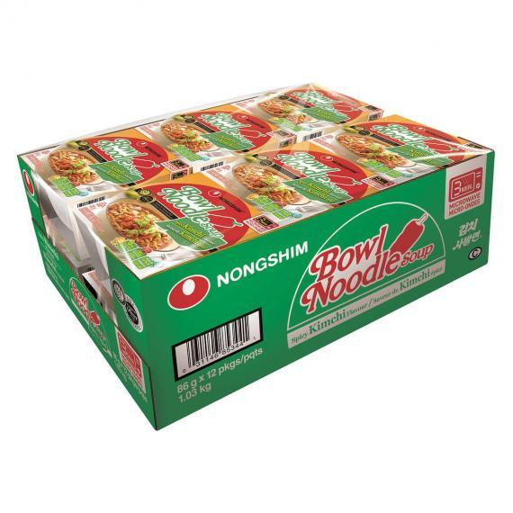 Nongshim Bowl Noodle Soup 12 x 86 g