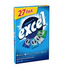 Excel Variety Pack Sugar Free Gum, 27 packs