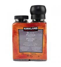 Kirkland Signature Poivre noir avec moulin et recharge , 357 g