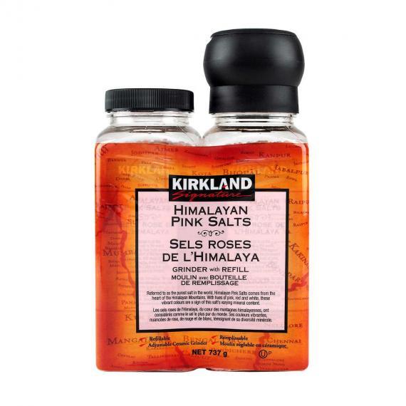Kirkland Signature Himalayan Pink Salt with Grinder and Refill, 737 g