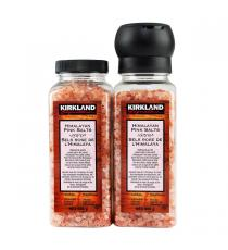 Kirkland Signature Himalayan Pink Salt with Grinder and Refill, 737 g