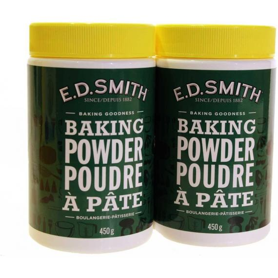 E.D.Smith Baking Powder, 2 x 450 g