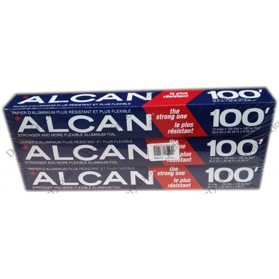 Alcan Aluminium 30,5 cm x 30.48 m - 3 packs