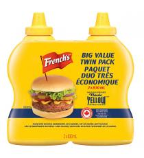 Frenchs Jaune Moutarde 2 x 830 ml
