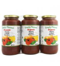 Simply Natural Organic Pasta Sauce 3 × 880 ml