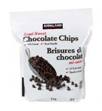 Kirkland Signature - Brisures de chocolat mi-sucré 2 kg