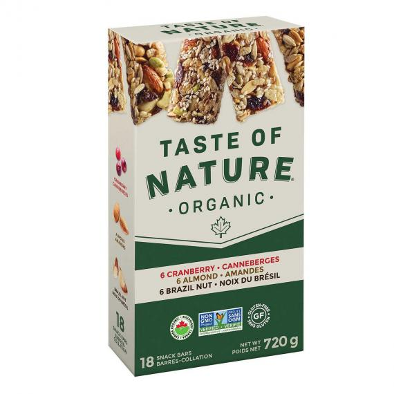 Taste of Nature Organic Fruit Snack Bar 18 x 40 g