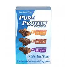 Pure Protein Bar variety Pack, Sans gluten, 18 x 50 g