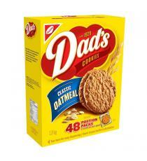 Les papas Classique des Biscuits à l'Avoine, 48 x 37.5 g packs