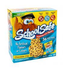 Treasure Mills - School Safe - Boite de 36 sachets de biscuits tendres aux brisures de chocolat 36 × 50 g