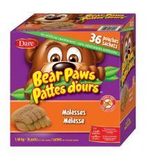 Dare - Boite de 36 biscuits moelleux à la mélasse Pattes d'ours 36 × 40 g