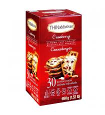 THIN Addictives Cranberry Almond Thins, 30 x 23 g