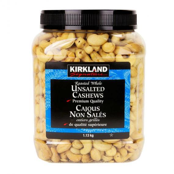 Kirkland Signature Rôti Entier de noix de Cajou Non salées, de 1,13 kg