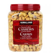 Kirkland Signature Roasted Whole Cashews, , 1.13 kg